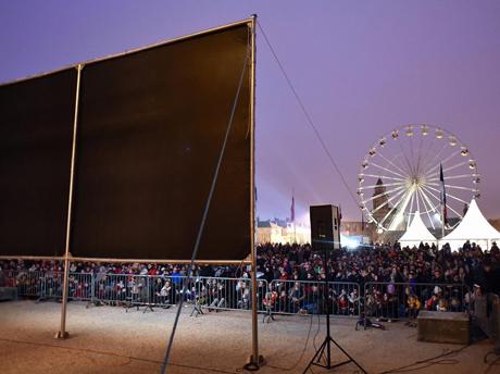 projection plein air_Franck Castel